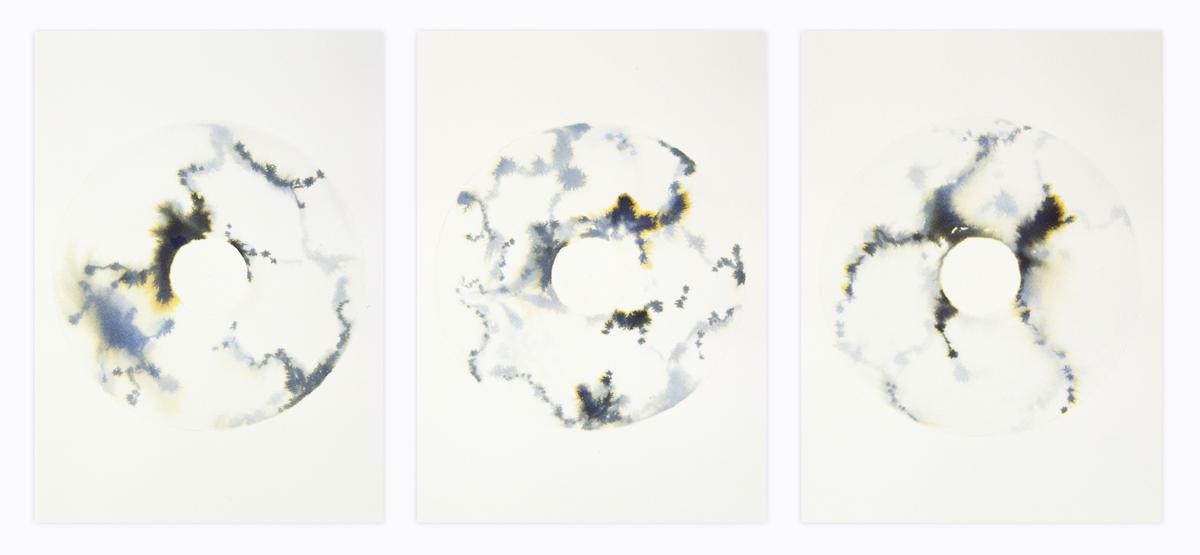 Pale Triptych 45 x 105cm