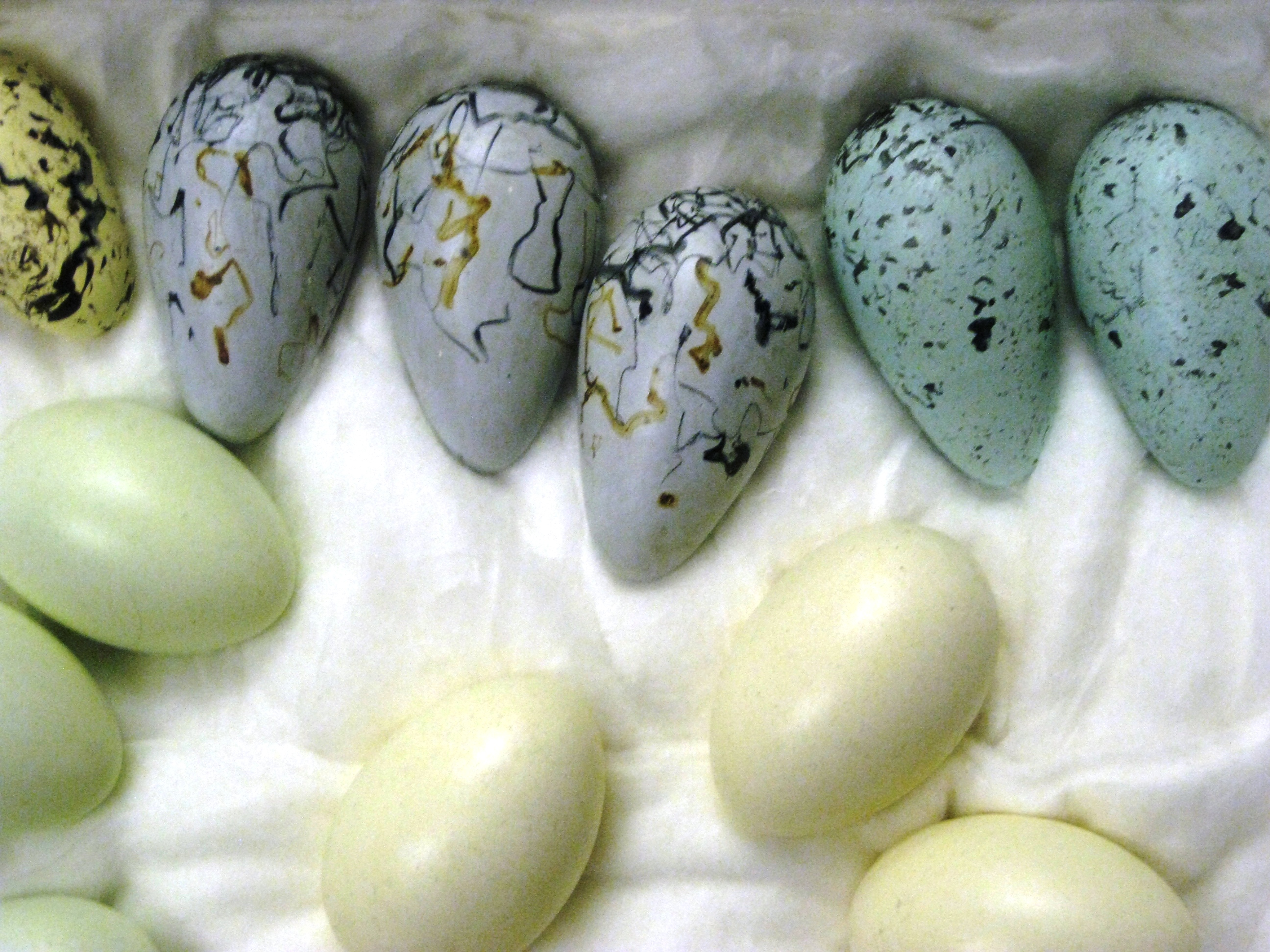 Porcelain eggs. Photo by Caroline Banks